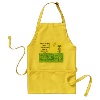 """Number 1 Chemistry Rule!"" Adult Apron"
