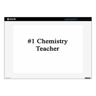 """Number 1 Chemistry Teacher Decal For 15"""" Laptop"""