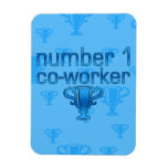 Number 1 Co-Worker in Blue Flexible Magnets