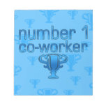 Number 1 Co-Worker in Blue Memo Pads