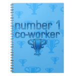 Number 1 Co-Worker in Blue Notebook
