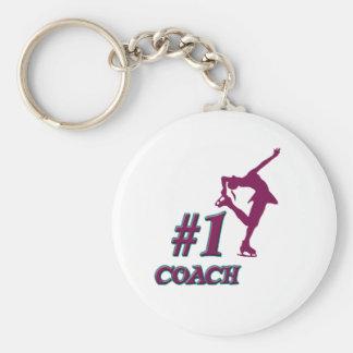 Number #1 Coach Basic Round Button Keychain