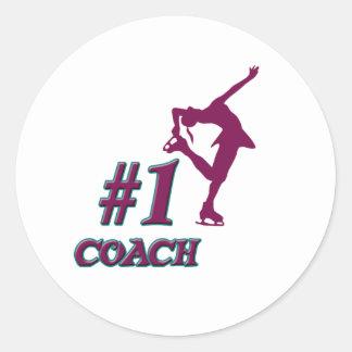 Number #1 Coach Classic Round Sticker