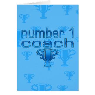 Number 1 Coach in Blue Card
