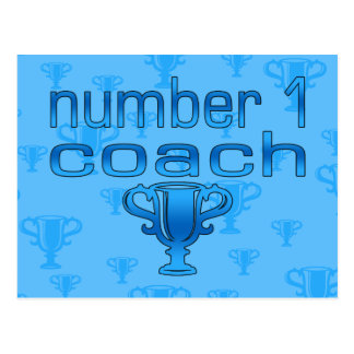 Number 1 Coach in Blue Postcard
