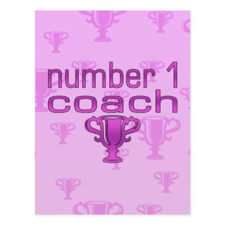 Number 1 Coach in Pink Postcard