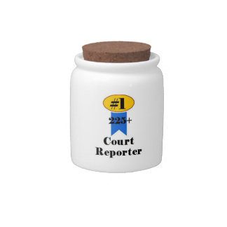 Number 1 Court Reporter Candy Dishes