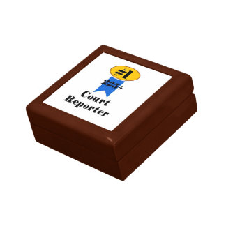 Number 1 Court Reporter Gift Box