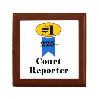Number 1 Court Reporter Jewelry Box