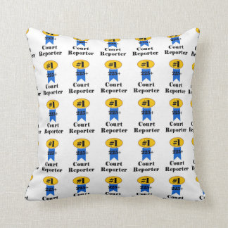 Number 1 Court Reporter Throw Pillow