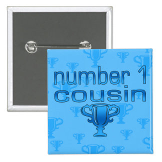 Number 1 Cousin in Blue Button