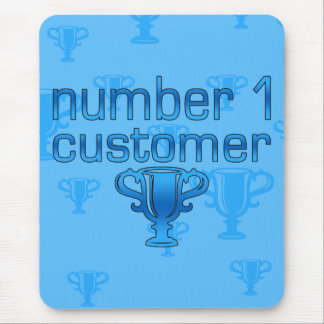 Number 1 Customer in Blue Mouse Pad