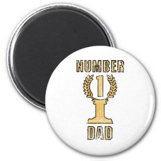 Number 1 Dad 2 Inch Round Magnet