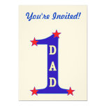 Number #1 Dad 5x7 Paper Invitation Card