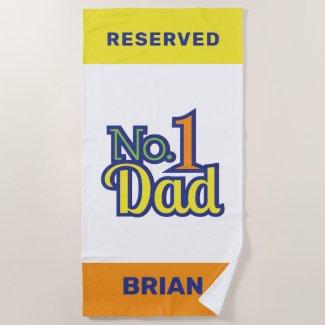Number 1 Dad Beach Towel