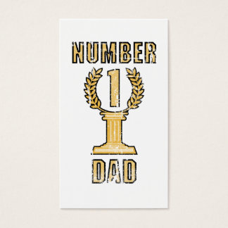 Number 1 Dad Business Card