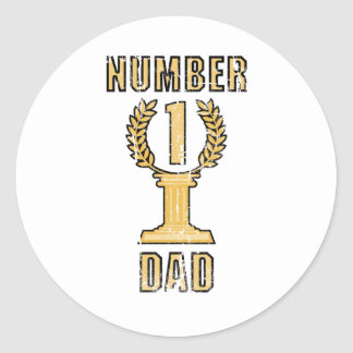 Number 1 Dad Classic Round Sticker