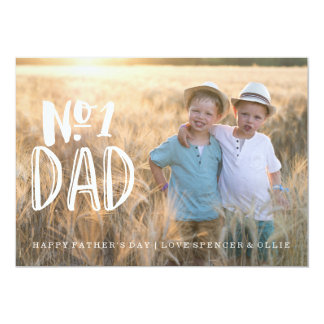 NUMBER 1 DAD | FATHERS DAY CARD