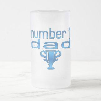 Number 1 Dad Frosted Glass Beer Mug