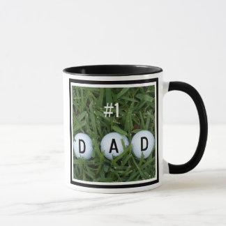 Number 1 Dad Golf Mug