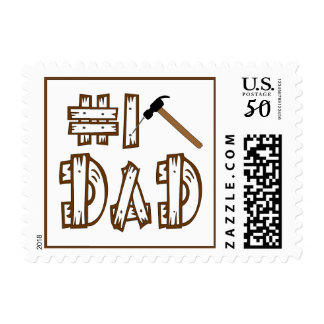 Number 1 Dad Hammer Father's Day Postage