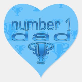 Number 1 Dad Heart Sticker
