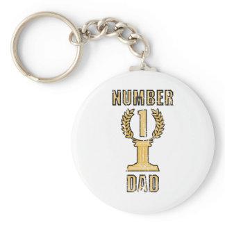 Number 1 Dad Keychain