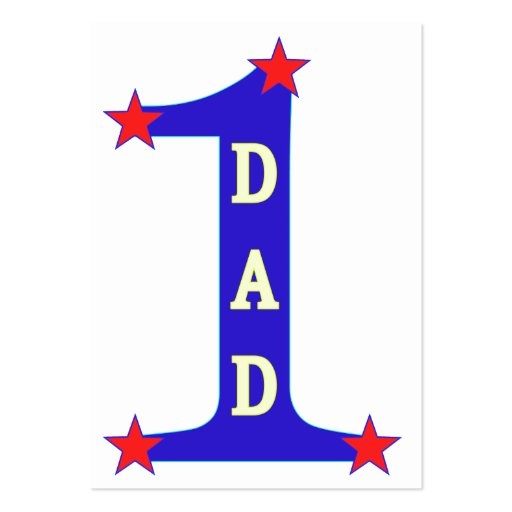 Number #1 Dad Large Business Cards (Pack Of 100)