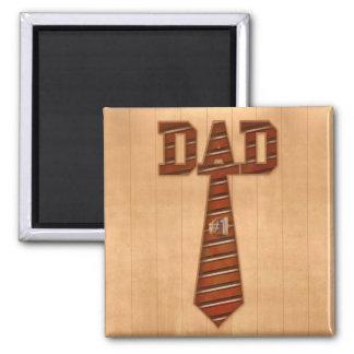 number 1 dad 2 inch square magnet