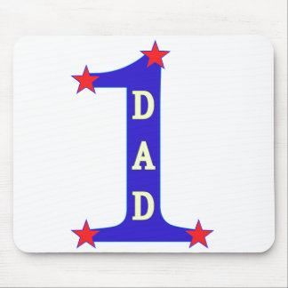 Number #1 Dad Mousepads