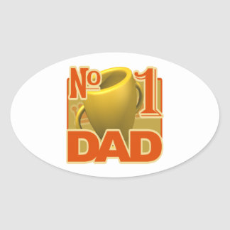Number 1 Dad Oval Sticker