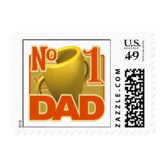 Number 1 Dad Postage Stamp
