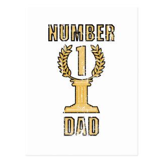 Number 1 Dad Postcard