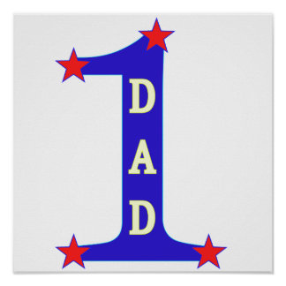 Number #1 Dad Poster