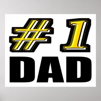 Number 1 Dad Poster