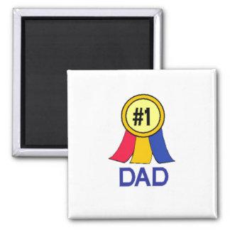 Number 1 Dad - Ribbon Fridge Magnet