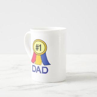 Number 1 Dad - Ribbon Porcelain Mugs