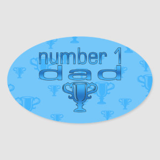 Number 1 Dad Oval Stickers
