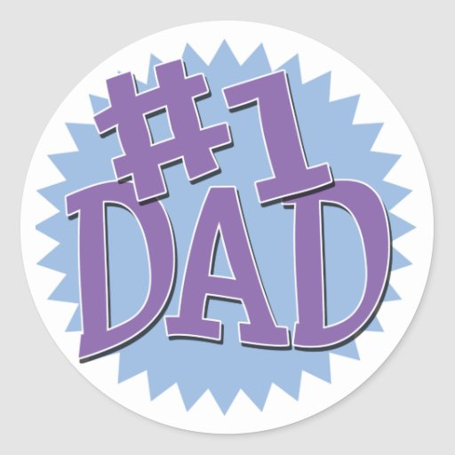 Number 1 Dad Stickers