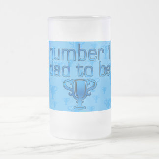 Number 1 Dad to Be Frosted Glass Beer Mug