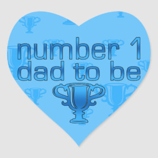 Number 1 Dad to Be Heart Sticker