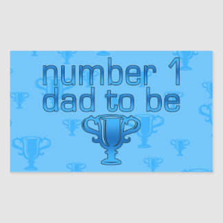 Number 1 Dad to Be Rectangular Sticker