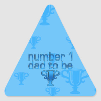 Number 1 Dad to Be Triangle Sticker