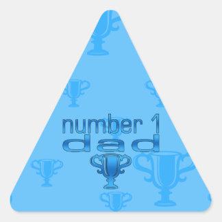 Number 1 Dad Triangle Sticker