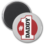 Number 1 Daddy 2 Inch Round Magnet