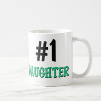 Number 1 Daughter Classic White Coffee Mug