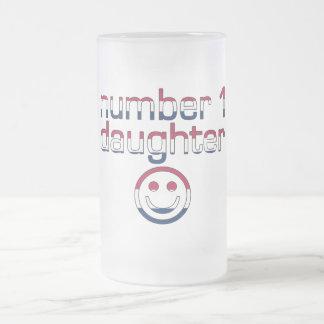 Number 1 Daughter in American Flag Colors Mugs