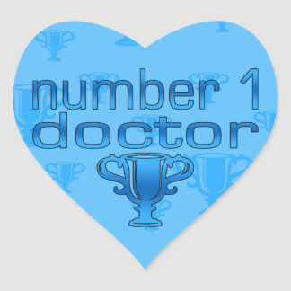 Number 1 Doctor in Blue Heart Sticker