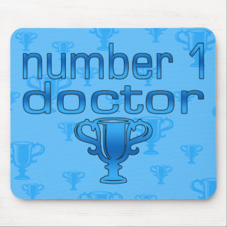 Number 1 Doctor in Blue Mouse Pad