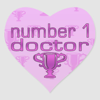 Number 1 Doctor in Pink Heart Sticker